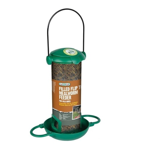 Preloaded Filled Flip Top Mealworm Feeder