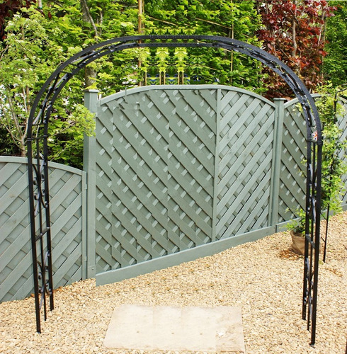 Buckingham Extra Wide Garden Rose Arch - Poppy Forge - Width Options