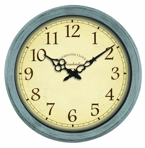 "Cambridge Outdoor Wall Clock 14"""