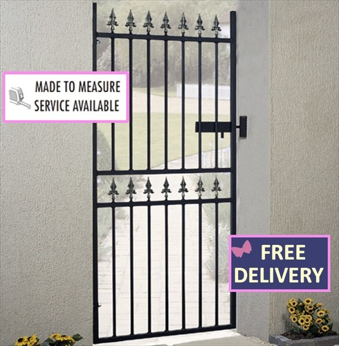 Corfe Tall Single Metal Garden Gates