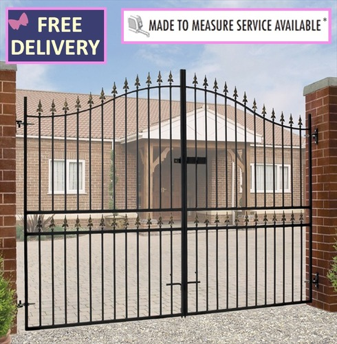 Corfe Tall Bow Top Double Driveway Gates