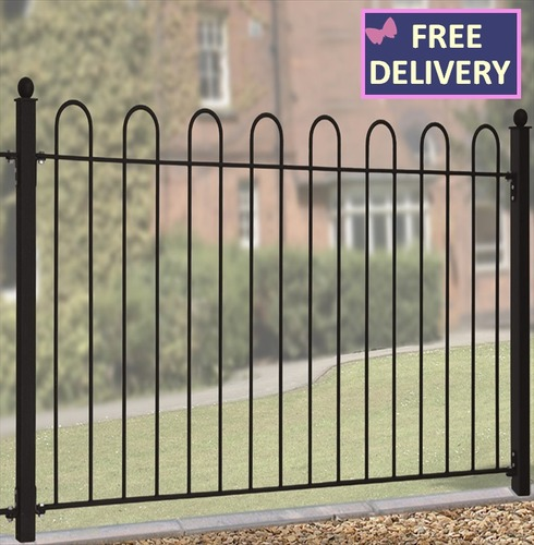 "Court Metal Fence Panel - Steel Fencing 37"" High"