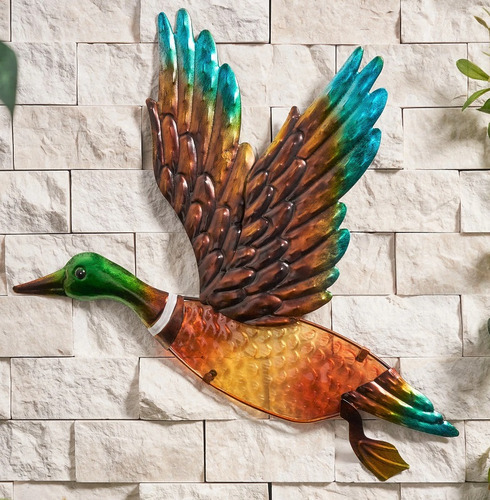 Duck Wall Art Glass and Metal