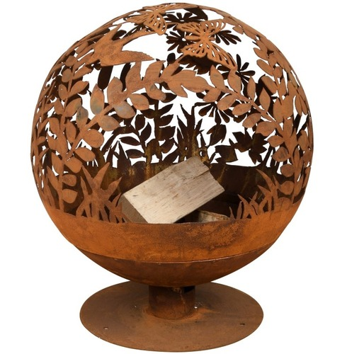 Fire Ball Globe Cast Iron - Laser Cut Meadow Design