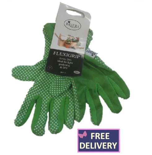 Flexigrip Gardening Gloves - Jersey Dot - Green - Small