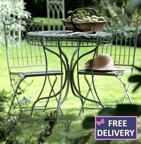 Hampton Metal Bistro Set - Various Colour Options