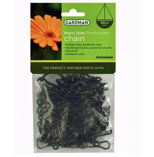 Heavy Duty Replacement Hanging Basket Chains - Black - Gardman