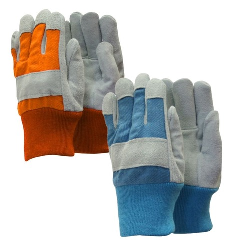 Kids Helping Hands Gardening Childrens Gloves - Blue or Orange