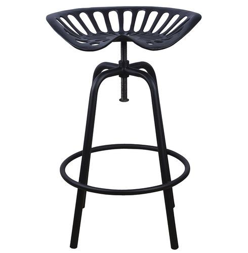 Tractor Seat - Black - Bar Stool