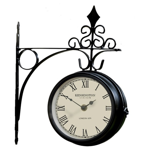 Kensington Metal Station Clock