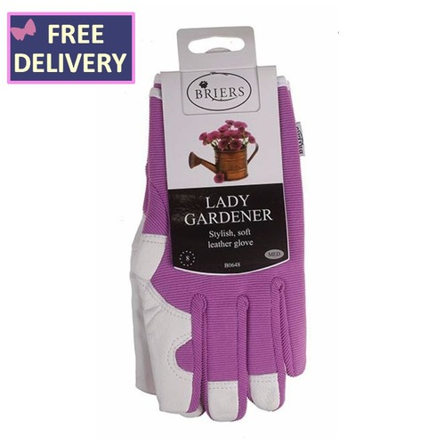 Lady Gardener Gardening Gloves - Medium - Lilac