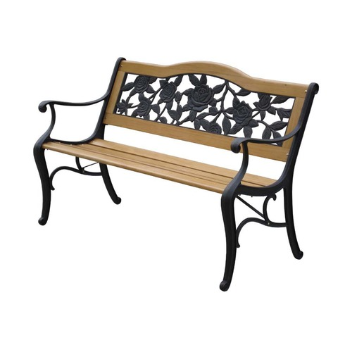 Lyon Bench - Garden Furniture in Wood & Metal