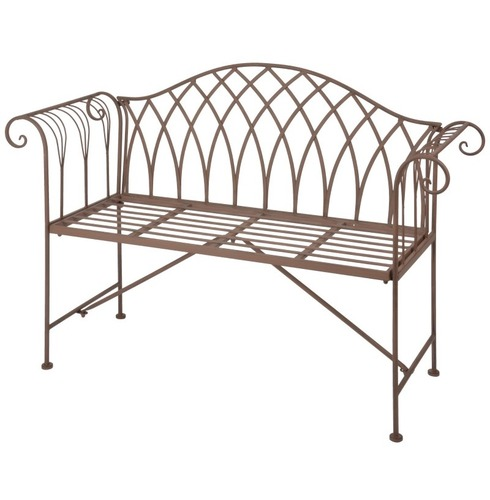 Old Rectory Scrolled Bench Antique Brown
