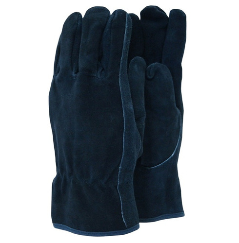 Premium Suede Gardening Gloves - Blue - Different Size Options
