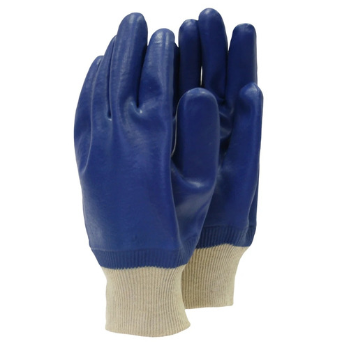 PVC Super Coated Gardening Gloves - Blue - Large