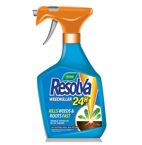 Resolva Weedkiller 24 hour - Kills Weeds and Roots Fast - 1lt