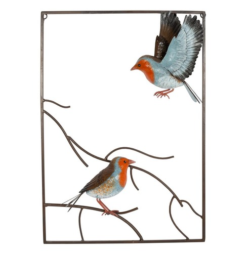 Tree Top Robin 3d Metal Wall Art - La Hacienda