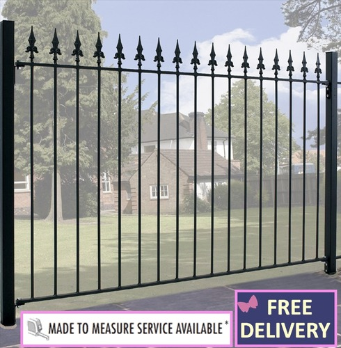 Saxon Metal Fence Panel - 3ft High - 6ft Wide