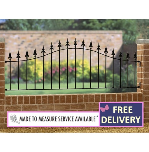 Saxon Metal Garden Arched Railing 6ft Wide