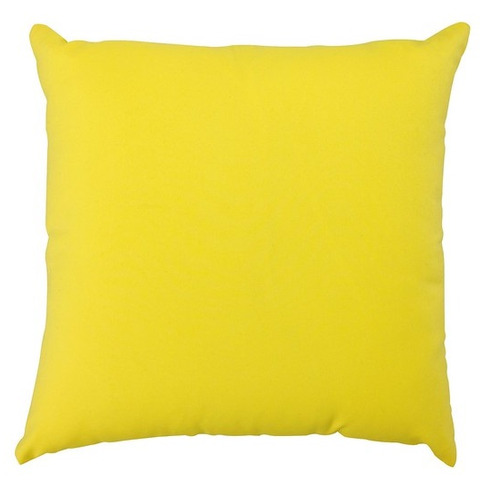 "Garden Furniture Scatter Cushion in Yellow 18"" x 18"""