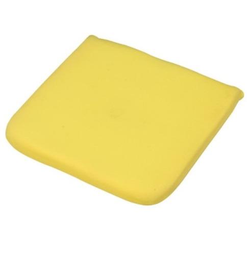 Garden Furniture Seat Cushion Pad in Yellow 40cm x 40cm