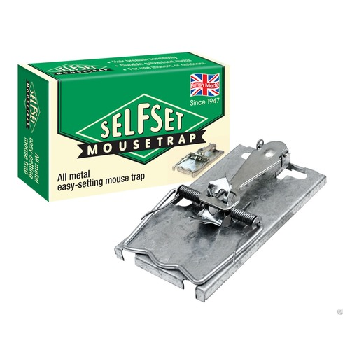 Self Set Mouse Trap - Traditional Metal Mouse Trap
