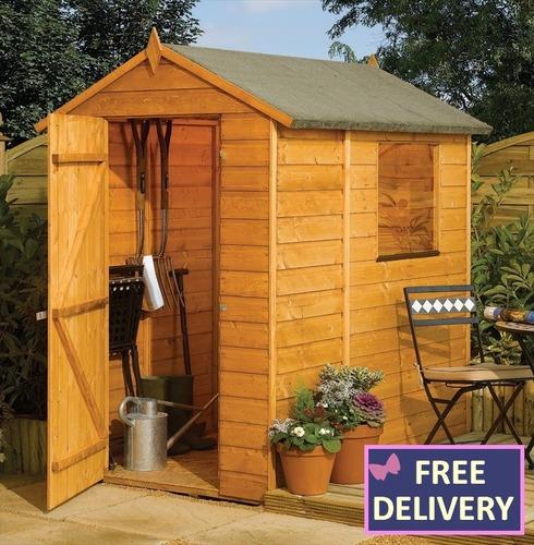 Wooden Garden Shed Modular Shed 6x4