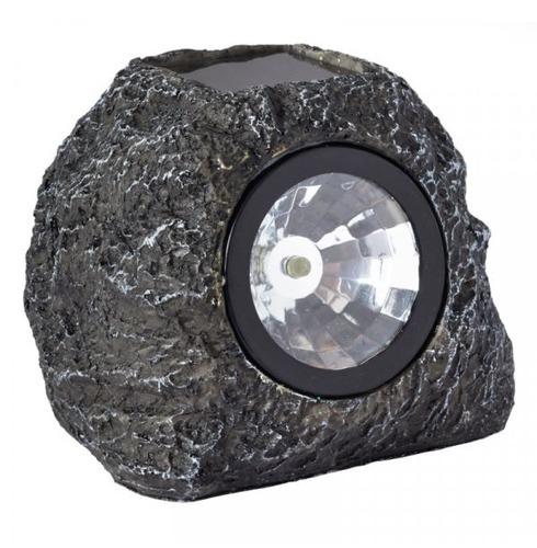 Solar Granite Effect Rock Spots Lights  - Twin Pack
