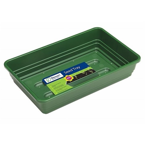 Seed Tray - 38cm Premium Deep Seed Tray Green - Stewart