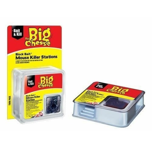 All Weather Block Bait Mouse Killer Stations - 2 Pack