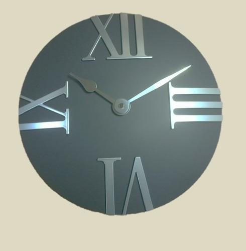 Charcol Grey Tempus Outdoor Garden Clock - 30.5cm