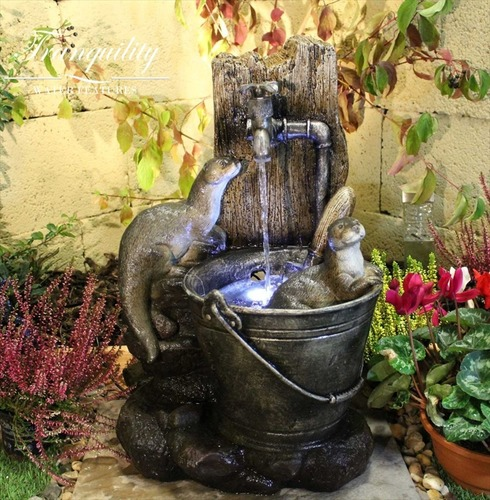 Playing Otter Animal Water Feature