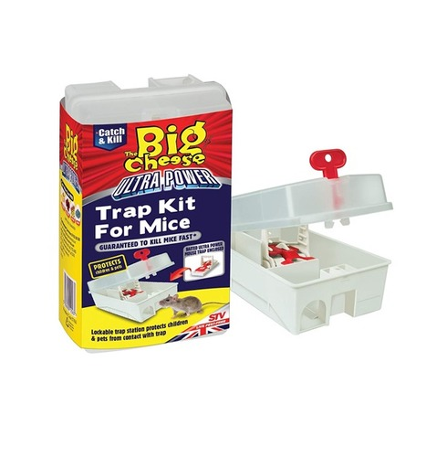 Ultra Power Trap Kit for Mice - Powerful, Lockable, Baited Trap