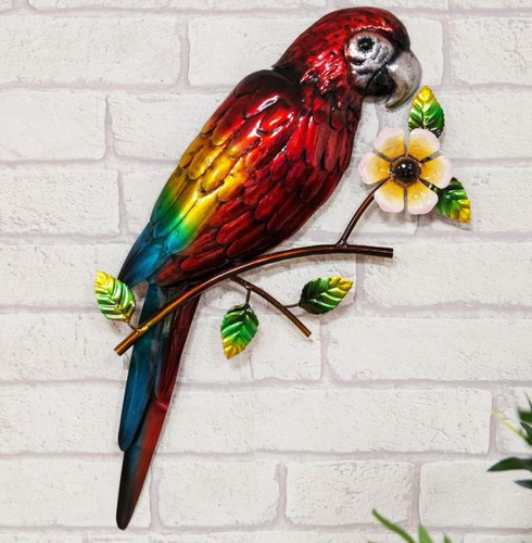Metal Macaw Parrot Wall Art
