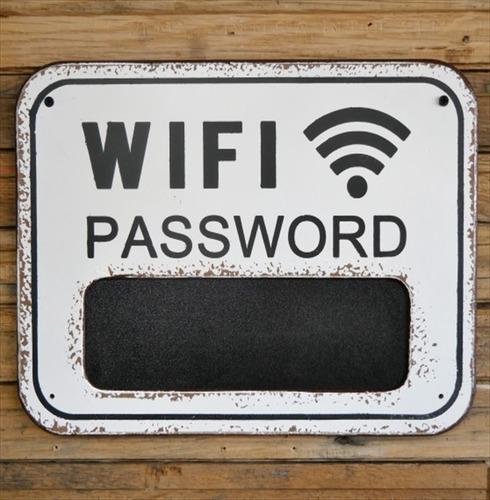 Wifi Password Chalkboard Plague