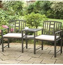 Hartlebury Duo Garden Bench and Table Companion Seat