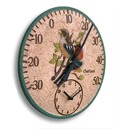 Chaffinch Garden Clock and Thermometer