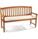 Garden 3 Seater Bench Cushion - Natural