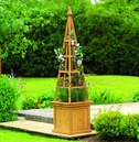 Solid Wood Obelisk Planter