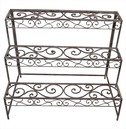 Etagere Garden Plant Stand in Aged Metal - Rectangular