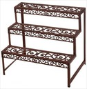 Etagere Garden Plant Stand in Cast Metal - Rectangular