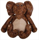 Elephant Faux Leather Suede Animal Doorstop