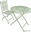 Old Rectory Tea for Two Garden Furniture Set - Sage Green