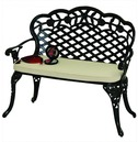 Rose 'Love' Seat Bench - With Seat Pad
