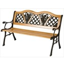 Garden Furniture Flower Bench in Wood & Metal