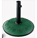 Green 15kg Parasol Base with Clock Face for 5.5cm dia Poles or Less