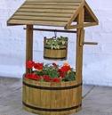 Decorative Wooden Garden Wishing Well