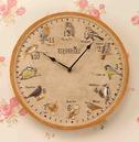 Twelve favourite British Birds Birdberry Wall Garden Clock 30cm