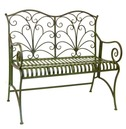 Lucton Metal Garden Bench - Green Wash - From The Lucton Range