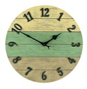 Driftwood Style Garden Outside Clock 36cm